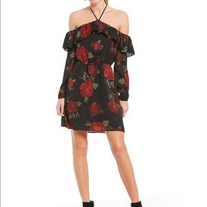 NWT❤️Cupcakes and Cashmere❤️black dress with red